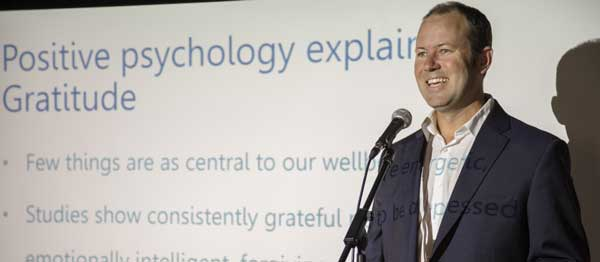 Speaking to community groups on happiness, meditation and mental health